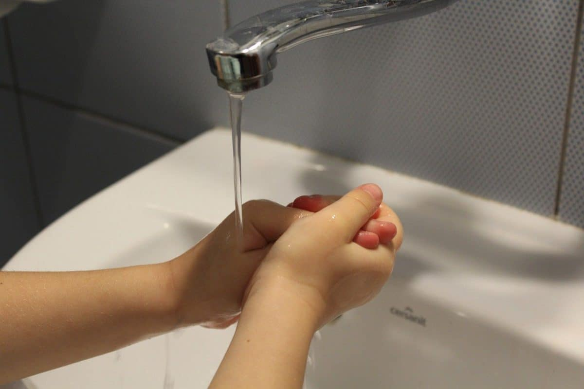 hygiene, child, hand washing