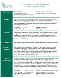 2020-21 School Profile
